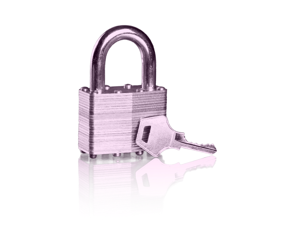 Privacy policy lock and key